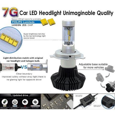 Набір світлодіодного головного світла UP-7HL-H16W-4000Lm (H16, 4000 лм, холодний білий) Прев'ю 2