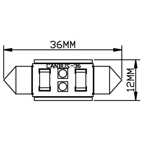 LED-лампа для салону автомобіля UP-SJ-N2-3030-36MM (білий, 12-14 В) Прев'ю 1