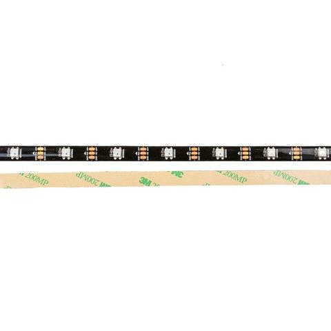 Світлодіодна стрічка RGB SMD5050, WS2812B (чорна, з управлінням, IP65, 5 В, 30 діодів/м, 5 м)