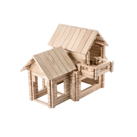 IGROTECO Cottage 4 in 1 Building Set